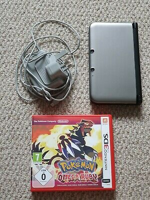 Nintendo 3DS XL Grey/Black with Pokemon Omega Ruby and Charger
