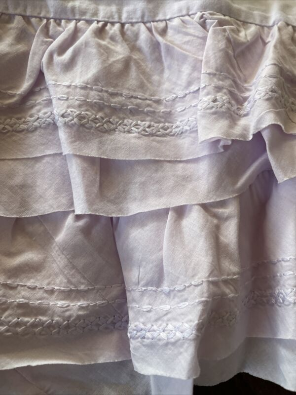 Pottery Barn Kids Sadie Ruffle Crib Skirt  Lavender New wo tag