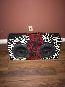 10'' subs with amplifier, works amazing
