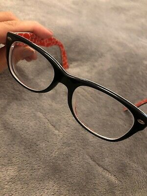 Ray Ban Brille RB 5184 2479 50 18 145 Kunststoff Schwarz Rot RAY BAN Brille