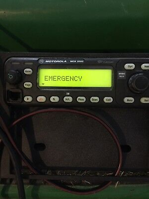 Mcs 2000 Motorola In Dash 2 Way Radio With Mic Flashport Good Condition