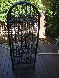 WINE RACK BLACK METAL GOOD CONDITION