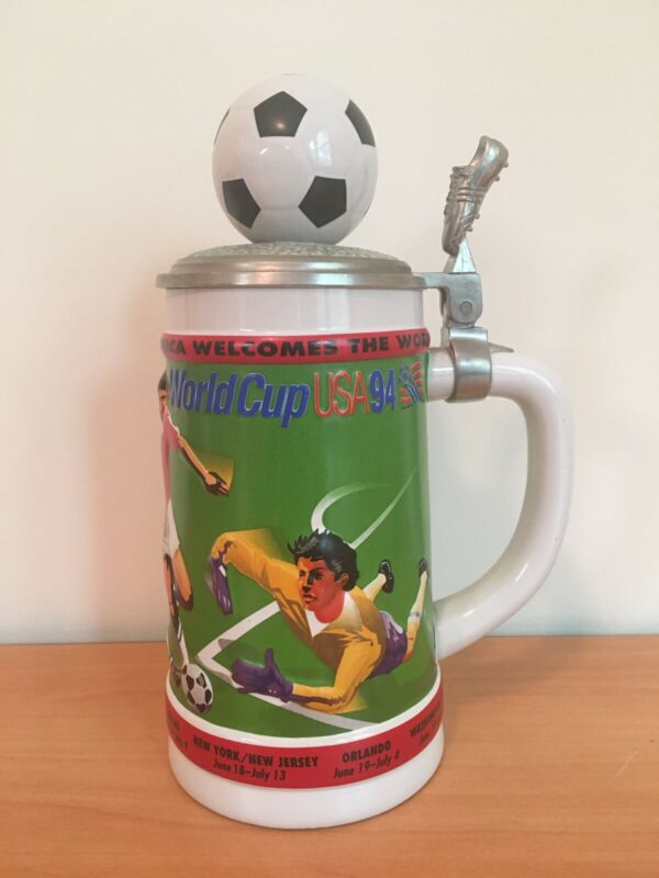 Official 1994 World Cup Commemorative Beer Stein Anheuser Budweiser Vintage
