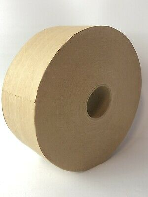 Brown Kraft Paper Gummed Tape 72 Mm X 600 Reinforced Water Activated 1 Roll