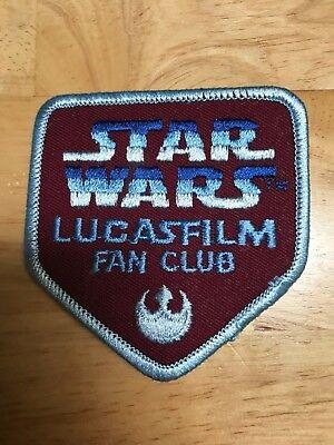 Original Star Wars Lucasfilm Fan Club Iron on Patch 1985   Lucas Films