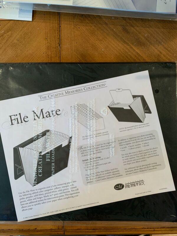 Creative Memories Set of 2 File Mate Folders & 1 File Mate