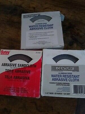 Lot Of Abrasive Sandcloth Plumbing Soldering 120 Grit 3 Boxes Oatey Free Shippin
