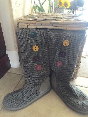 UGG AUSTRALIA Classic Cardy II Boot KID Sz 4   Tall Knit Sweater Sheepskin for sale  Huntington Beach