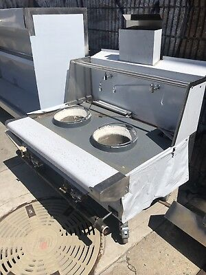 Two 18 Hole Chinese Wok Jet Or Duck Burner Lp Or Nat Gas Wsafety Valve Aga Nsf
