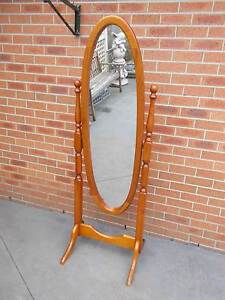 Cheval Mirror Timber Swivel Full Length Mirror VGC Cranbourne East Casey Area Preview