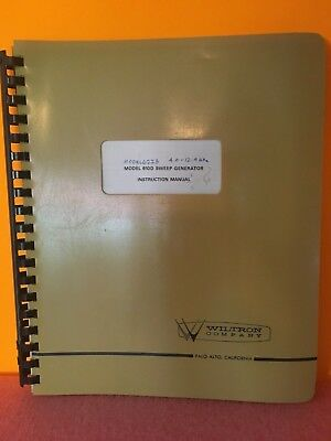 Wiltron Company Model 610d Sweep Generator Instruction Manual