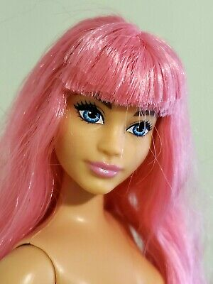 Barbie Daisy Travel Doll Curvy Body Pink Hair Life in Dreamhouse Nude for OOAK