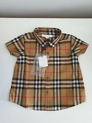 Baby Burberry Shirt Size 12 Months 100% Genuine *Brand New With Labels And Box*