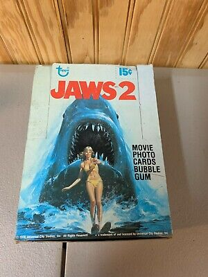 1978 Topps Jaws 2 Movie Vintage FULL 36 Pack Trading Card Box