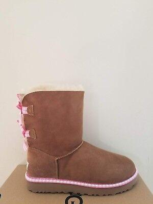Ugg Australia  Women's Bailey Bow Gingham  Boots  Size 11 NIB