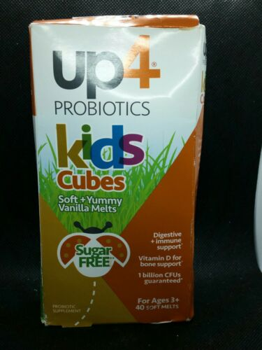 UP4 Kids Cubes Probiotics With DDS-1 Vitamin D3 Yummy Vanill