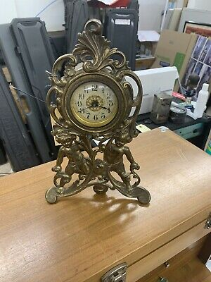 Vintage Brass Art Deco 1906 Mantle Clock Not Running