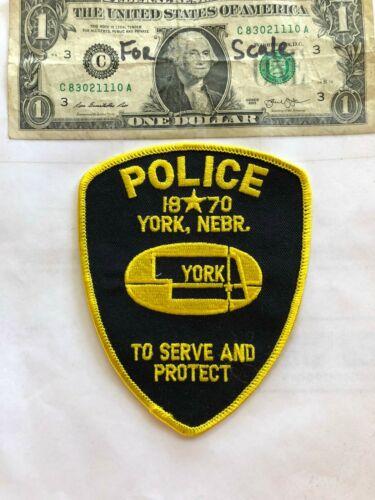 York County Nebraska Police Patch Un-sewn in great shape