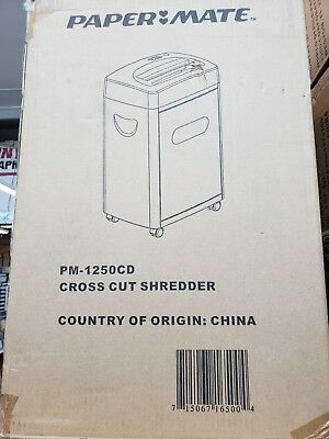12-sheet Cross-cut Paper Cd Credit Card Shredder Cross Cut Paper Shredders