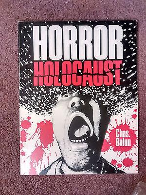 Horror Holocaust  Chas Balun  Fangoria  86 Fantaco 1St Pb Edition  V Rare Oop