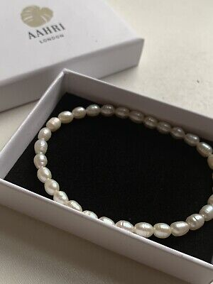 Ivory Fresh Water Honora Rice Pearl Stretch Bracelet In Box