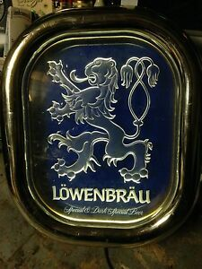 Lowenbrau German beer light up bar sign