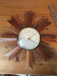 Retro Sunburst Wall Clock