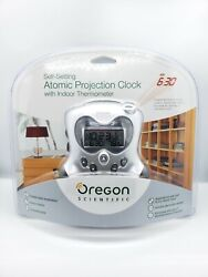 Oregon Scientific Self Setting Atomic Projection Clock W/ Indoor Thermometer