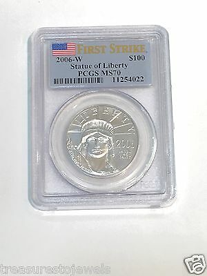 Click now to see the BUY IT NOW Price! 2006 W $100 1 OZ. BURNISHED PLATINUM EAGLE PCGS MS70 FIRST STRIKES