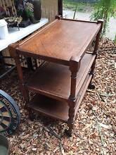 Antique Vintage English Oak 3 Level Serving Porcelain Tea Trolley West Pymble Ku-ring-gai Area Preview