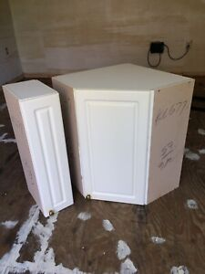 Corner wall cabinet and narrow cabinet for sale