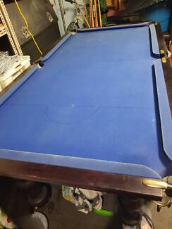 Pub sized, slate pool table good condition