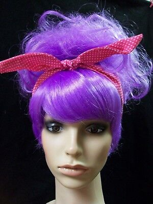 Pop Art Penny Pow Wig w/ Polka Dot Bandana 40s 50s Housewife 60s Diner Waitress