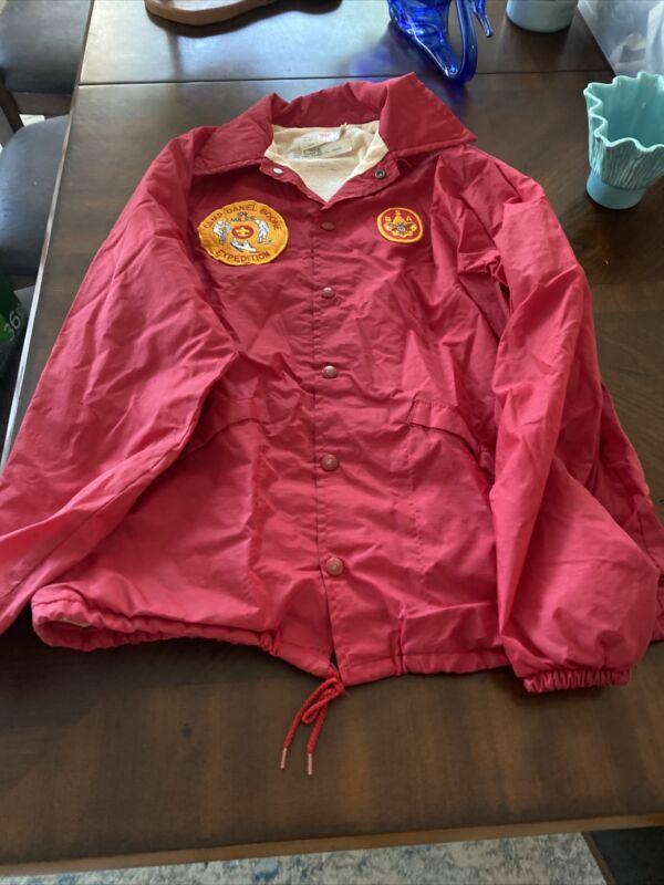 BOY SCOUTS Red JACKET Nylon Windbreaker King Louie Size M 40-42 G-536H