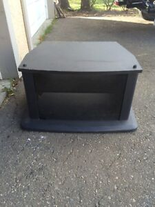 Tv stand with glass door and shelf