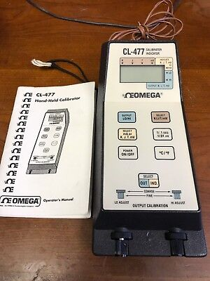 Omega Cl-477 Portable Hand-held Calibrator Thermometer