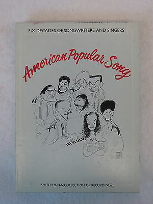 Various Artists AMERICAN POPULAR SONG 4-Cassette box set Smithsonian VG+/NM-