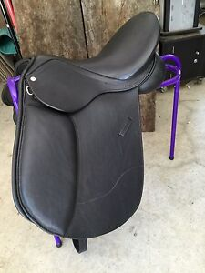 New Black German Leather Dressage Saddle changeable gullet incl plates Mudgeeraba Gold Coast South Preview