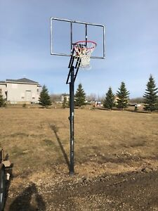 Basket ball net, in ground, no backboard