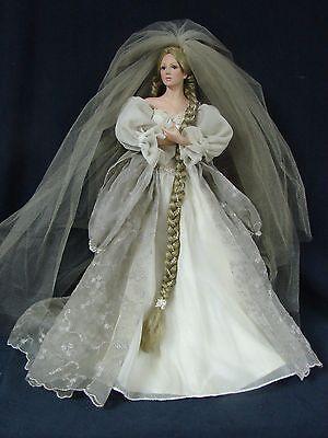 Ahston Drake Cindy McClure Rapunzel Bride Porcelain Doll