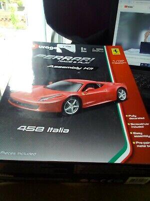 Burago 45206 - Ferraro Race and Play Assembly Kit - 458 Italia 1/32