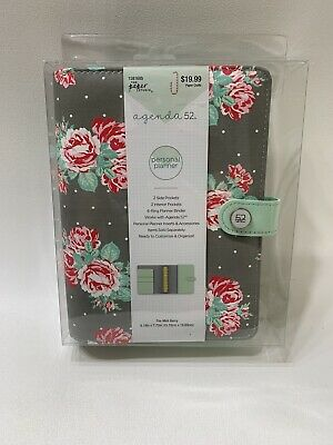Agenda 52- 6 Ring Binder Personal Planner - Mint Berry New The Paper Studio