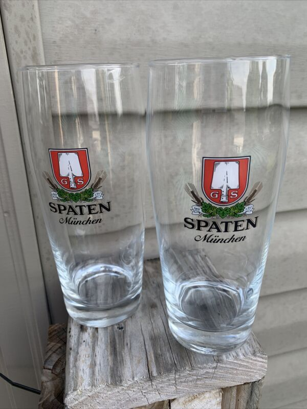Spaten Munchen 0.5L -RKL - Beer Glasses Set of Two-see all pics-NICE