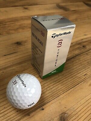 TAYLORMADE PROJECT (a) 3 PIECE GOLF BALLS / WHITE / DOZEN 2 BALL TRIAL PK NEW