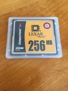 Carte mémoire CompactFlash Lexar média 256 mb