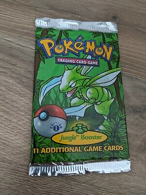 Pokemon 1st Edition Jungle booster pack, factory sealed, Scyther artwork