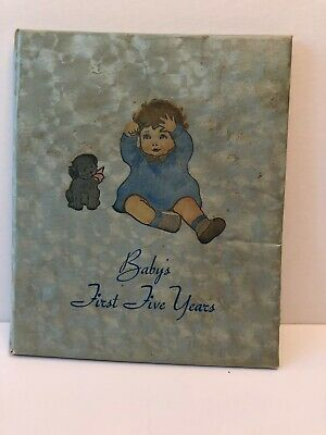Vintage 1937  Baby's First 5 Years Milestones Record Book Unused  Edith Kovar