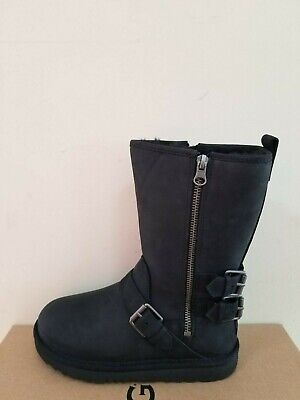 Ugg Australia Kids Kaila Leather Boots  Size 3 NIB