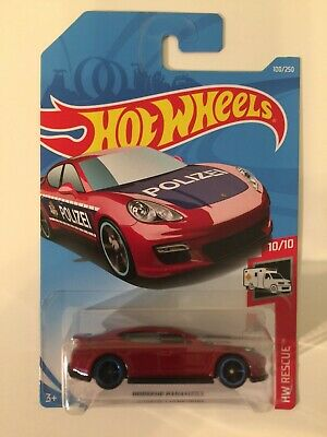 Hot Wheels Porsche Panamera Polizei Huge Error New NIP Missing Side Tampo