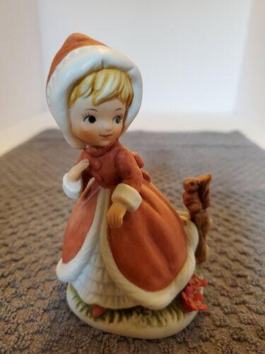 Vintage Hummel Girl figurine with Squirrel C8611